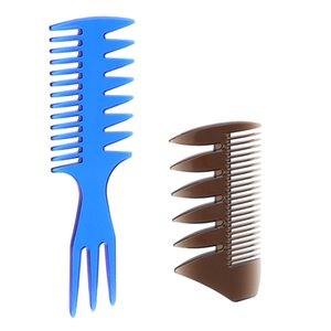 2ST Dual-Side und 3-Wege-Männer Oil Hair Pick-Comb Salon Dye Salon Friseur-Styling