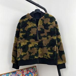 20FW 유럽 위장 폭격기 재킷 빈티지 하이 스트리트 야구 자켓 커플 남성과 여성 레트로 편안한 패션 코트 HFXHJK115
