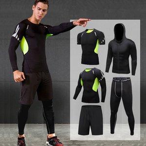 5PCS Running Sport Suit Men Compression Set Invierno Baloncesto Entrenamiento Ropa deportiva Jogging Ropa Gym Fitness Running Chándal
