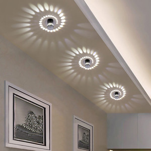 Modern LED Ceiling Lights 3W RGB Wall Sconce Living Room Porch Entrance Light Fixture Bar Hotel Aisle Corridors Spotlight