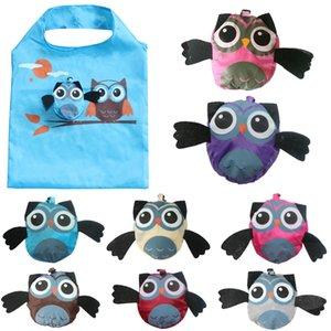 재사용 가능한 만화 가방 주방 쇼핑 가방 조직 Owl 식료품 가방 귀여운 핸드백 친환경 접이식 여행 스토리지 토트 Gsdao