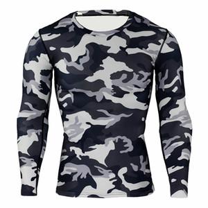 T-shirt à manches longues homme running sport décontracté cyclisme camouflage collants respirant séchage rapide T-shirt compression vêtements