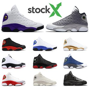 De archivo X 2020 zapatos de baloncesto del mens 13s CORTE REAL VIOLETA HYPER Ambiente gris NEGRO CAT Se puso mens juego de deportes zapatillas de deporte de tamaño 7-13