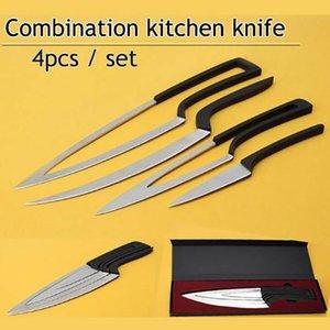 سكين مطبخ الفولاذ المقاوم للصدأ دائم سكين الشيف تناول الطعام بار فريدة من نوعها تصميم خاص متعدد طبخ 4PCS