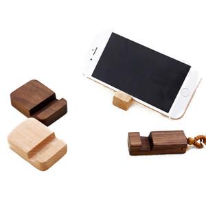 Portátil Titular Madeira Telefone para iphone 11 pro Max Universal área de trabalho Bracket Suporte para Samsung S10