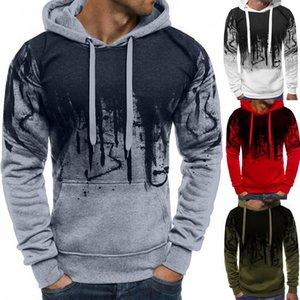 Laamei Autumn Winter Hooded Sweatshirts Brands Men Print Pullover Sweatshirt Male Casual Long Sleeve Sudaderas Hombre
