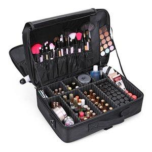 Maquillaje profesional de las mujeres del bolso bolsas de cosméticos cosméticos Organizador de viajes gran caja portátil Diseñador cremallera bolsa de belleza