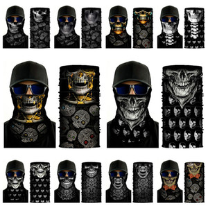 new multi-function Skull Scarf Print cycling masks Headgear seamless magic scarf Halloween Party Masks 20style DHA204