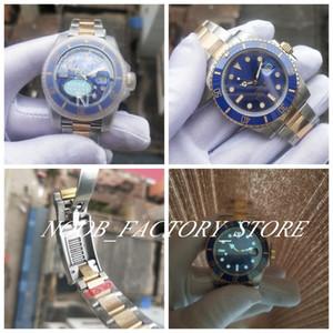 Super N Factory Blue Ceramic Bezel Men 18k Envuelto Gold Cal.3135 Movimiento automático 40mm 116613 116613ln reloj de reloj de pulsera de natación de buceo