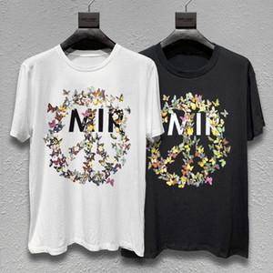 Hombres camiseta de los hombres de la letra mujeres de la alta calidad de la impresión floral de manga corta casuales de moda para hombre camisetas