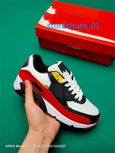 Xshfbcl 2019 Air Cushion 90 Casual Running Shoes Cheap Black White Red 90 Men Women Sneakers Classic Air90 Trainer Outdoor Sports Shoe
