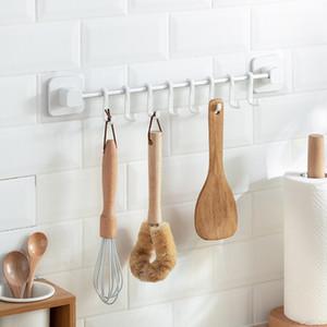 Cozinha Sliding Hooks utensílio Hanger, montado na parede Pot Pan Lid cremalheira faca Ferramentas Holder, Bathrooth Strong Adhesive Ganchos