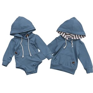 Babybruder Hoodie-Sweatshirt mit Kapuze Hemdoveralloverall kleidet das passende Baby der Familie kleidet Herbstkleidung