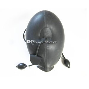 Latex Head Sex Hood Mask Quality Female Slave Face Mask Mouth Bite Gag for BDSM Bondage Torture Heavy Play Fetish Adult Toys