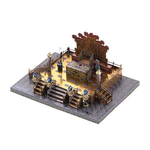 3D Stereo Metall Mosaik DIY Farbe und Gold Puzzle Modell von Zhengda Guangming Hall Erwachsene Spielzeug Ornamente Kreative Dekoration