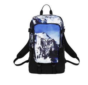 Nuevo Snow Mountain Patrón Mochila deportiva Diseñador de la marca Hombres Mujeres Viaje Mochila de doble hombro Bolsas de estudiantes Bolsas de camping Paquetes al aire libre