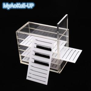 كاذبة الرموش رمش تخزين مربع 5 طبقات الاكريليك البليت جلدة حجم عرض موقف الحاويات الفردية شاش حامل حالة أدوات ماكياج