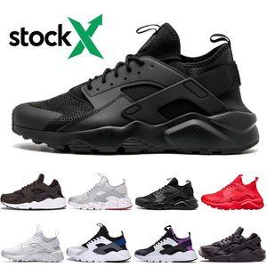 2019 Hava nike Huarache 4 Erkek Kadın Koşu Ayakkabıları Tüm Beyaz siyah Huraches Zapatos Ultra Nefes Huaraches Erkek Eğitmenler Hurache Spor Sneakers