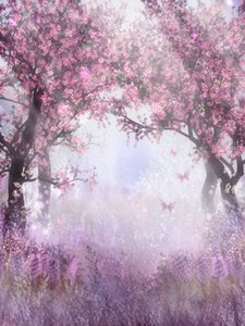 Cherry Trees Fairy Tale Fantasy Vinyl Photography Backdrops New Baby Photo Booth Backgrounds for Romantic Wedding Studio Props
