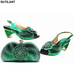 New Arrival African Ladies Shoes and Bags Set Decorated with Appliques Shoes and Bag Set African Sets 2019  Sandals Women