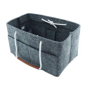 Multi-Pocket Felt Fabric Insert Bag Purse Handbag Bag Liner Tote Organizer
