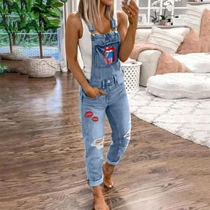 de JODIMITTY Mulheres Loose-Fit jeans stretch geral Magro Hetero Cintos Jeans impresso bolso Primavera-Verão Plus Size 5XL