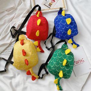 Kid Waist Bag For Girl Boy Fashion Fanny Pack Animal Dinosaur Chest Bag Children Belt Bag Money Pouch Baby Zipper Wasit Pack M200621