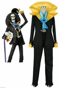 One Piece Nasal song Brook Uniform Suit Cosplay Costume
