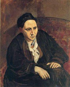 Pablo Picasso Pintura al óleo clásica del retrato de Gertrude Stein 100% hecho a mano por el pintor experimentado lienzo en blanco Picasso585