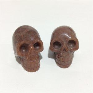 2inches en gros de haute qualité naturel Crâne de Cristal Forme Pierres sculpté à la main en cristal Palm pour le présent ou Collection