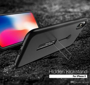 Mytoto Telefon Kılıfı Için iPhone X 10 8 7 6 S 6 Artı 5 s 5 SE PC + TPU 2 1 Kabuklar Halka Standı Geri Kılıfları Kapak Aksesuarla ...