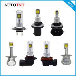 2X H1 H3 H7 H11 H8 9005 9006 880 881 LED Fog Lamps DRL Driving Light Bulb Daytime Running Light 12~24V powered by Cree Chip