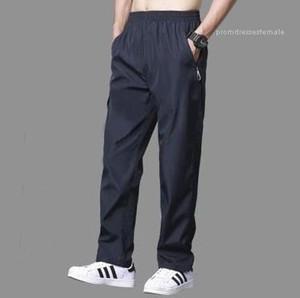 Relaxed Track Sweatpants Joggers Elastic Waist Straight Pants Pantalon Hombre Breathable Mens Thin Pants Causal Solid