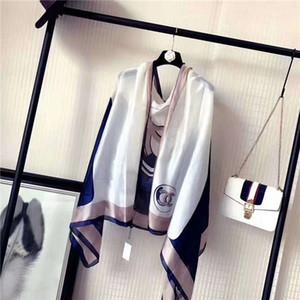 Haute qualité 2019 femme foulard en soie foulard carré châle Wraps 180 * 90 cm vente chaude Dot écharpe en satin imprimé pour le printemps été automne hiver