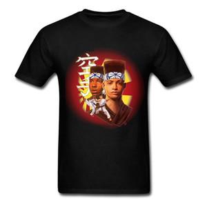 Отечественной t рубашка человек Зеленый натуральные ткани топы производитель каратэ хип-хоп ТИС для мужская винтажная 80-х мужская футболка
