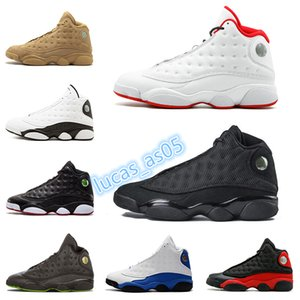 13s mens basketball shoes History Of Flight He Got Game Phantom Black Cat bred Hyper Italy Blue AIR 13 men sports shoes Sneaker
