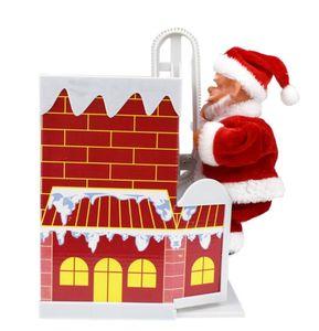 Noel Elektrikli Baca Noel Baba Oyuncak Bebek Çocuk Elektronik Oyuncak ile Müzik Noel Süsleri Hediyeler Tırmanma GGA2995-1