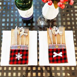 Lace мешковина держатели для столовых приборов мешочка посуды сумки для хранения постельного белья винтажной свадьбы поставок рождественских украшений посуды