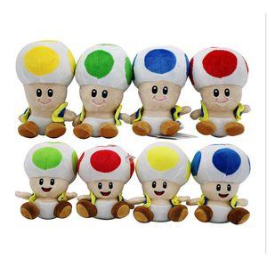 17cm / 7 inç Super Mario Peluş oyuncaklar karikatür Süper Mario Mantar bebek Noel hediyesi için Doldurulmuş Hayvanlar baş