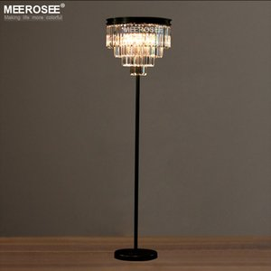 Vintage Crystal Floor Lamp Lustres Floor Stand Light Fixture Cristal Candelabra Standing Lamp High Quality Lighting