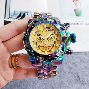 Hot Sale Men Fashion Big Dial Watch 50mm Stainless Steel Design Watches Joker Dial Quartz Movement Auto-Date Male Sport Wristwatch Watches
