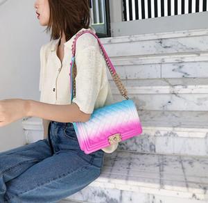 DHL In Stock Women Handbags Mini Candy Bag 2020 Summer New Gradual Jelly Chain Shoulder Bag Gradual And Versatile Messenger Bags BY1556
