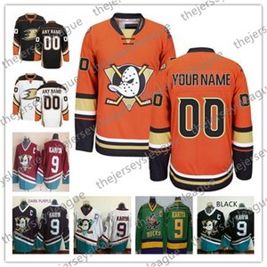 Custom Anaheim Ducks Mens Womens Youth OLD BRAND Arancione Bianco Nero Terzo Viola Qualsiasi Nome Qualsiasi Numero Maglie Hockey Cucite S-4XL