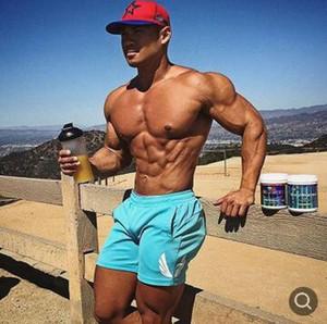 2019 новых мужчин фитнес шорты для бодибилдинга летние спортивные залы тренировки мужской спортивной шорты пляжный человек бренд спортивные штаны