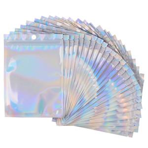 Множественные размеры Resealable Запах Proof Сумки Фольга сумка Flat Ziplock сумка для партии благосклонности хранения продуктов, голографический цвет