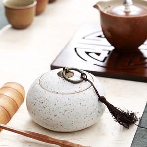 Elegante Ceramic Tea Box Spice Jar, Küchen-Dekor Tempero Zucker Box saleratus Jar, Teedose Jar, potes de cozinha armazenamento SH190925