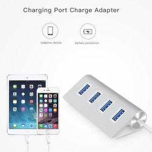 5 Гбит / с 4 порта USB 3.0 концентратор для Apple Macbook Air ноутбук PC Tablet портативный LED USB Hub Splitter