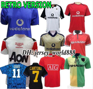 Rétro Version 2001 2002 United Centenary 100 Maillot de football CANTONA v. NISTELROOY football Giggs SCHOLES BEKHAM RONALDO 98 99 Manchester 2008