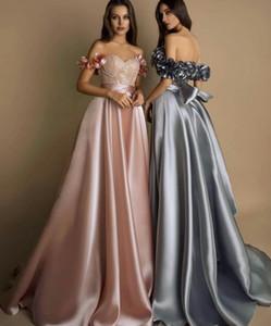 Сатин Урожай розовый Пром платья 2020 Элегантные Формальное вечернее платье Длинные ленты Вечернее платье Платье De Noche