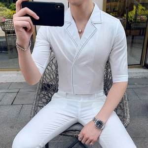 White Suits Mens British Style Mens Summer Suits Stylish Black Nightclub Office Dress Smoking Fashion Tuxedo Designer